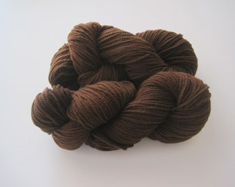 Naturally Dyed  Wool Yarn  200yds 2-Ply Worsted Wt  Black Walnut