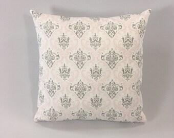 Pink Grey Pillow Cover - Madison Bella/Storm Print - Decorative Throw Pillow Cover -  Designer Pillow Cover - Custom Sizes - Hidden Zipper