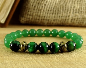 Jade Bracelet Wife Gift Daughter Romantic Jewelry  Nature Bracelet Women Stone Green Jewelry Women Bead Bracelet Jade Jewelry Mint Bracelet