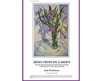 How to Paint Irises - step-by-step instructions