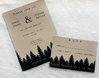 mountain invitation | etsy, Wedding invitations