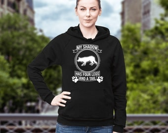 Border Collie   Border Collie - My shadow   Funny Border Collie Hoodie