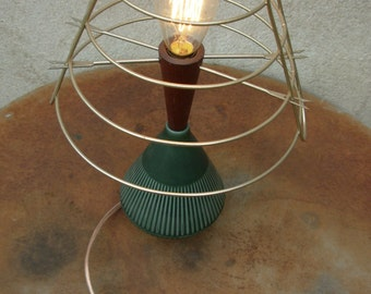 Unique Upcycled Retro Vintage Lamp. Lighting up your life and the sixties.