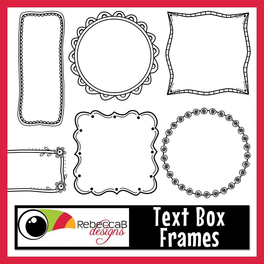 Clipart Doodle Frames Text Box Frames Digital Clip Art