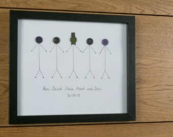 Groom Wedding Picture - Groom Party - Stag Party - Personalised - Includes frame