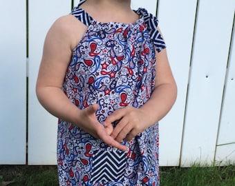 Patriotic Paisley Dress