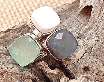 Ring PATIL - Grey Moon Stone (grey)