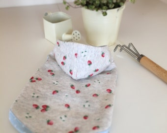 Dog Clothes, Dog Hoodie, Strawberry Hoodie, Beige 2 colours