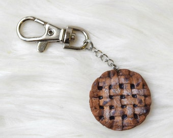 Blueberry Pie Keychain; Realistic Cute Miniature Food Accessories Jewelry