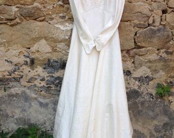 100% pure silk wedding dress