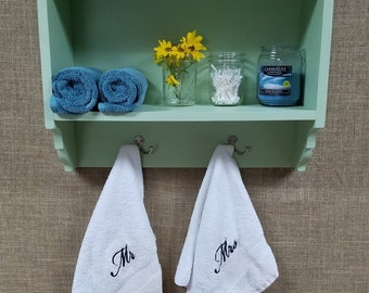 BathroomTowel Rack and Storage Cubby