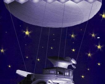 The AirMachine-digital compellation art-steampunk artwork-print-digital download-
