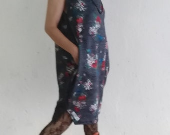 Dress casual floral of neoprene