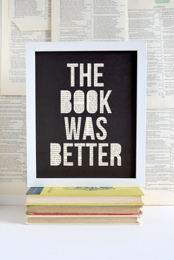 Gifts For Readers Book Lover Art Literary Gift By Typeshyshop