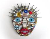 Know Thyself. (Handmade Original Mixed Media Mosaic Wall Hanging by Shawn DuBois)