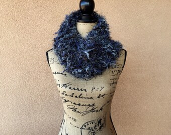 Girlfriend Gift for Her Soft Gift for Wife Gift Cowl Scarf Circle Scarf Blue Black Grey Brown Scarf Accessories