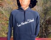 vintage 70s hoodie sweatshirt SAN NICOLAS island channel california velva sheen Medium Large hood 80s