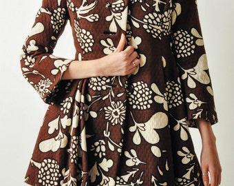 Vintage Floral Mod Full Skirt Coat