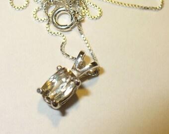 Genuine Diaspore Gemstone in Solid Sterling Silver Pendant Necklace