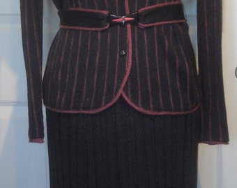70s Black Knit Venice Outfit Purple Stripes Saks Fifth Avenue B36