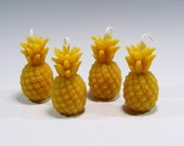 Beeswax Pineapple Votive (4) Candles Beeswax Pineapple Hospitality Candle Pineapple Votive Wedding Shower Candle Baby Shower Birthday Candle