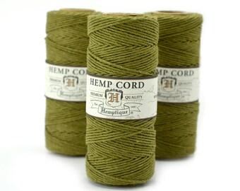 Hemp Cord, Sage Green, 1mm, 205 feet,  Colored Hemp Cord,  Hemp Crafters Cord, 1mm Hemp Twine  -T9
