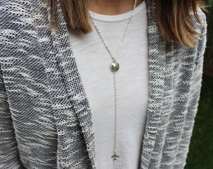 Wanderlust Drop Chain Necklace.