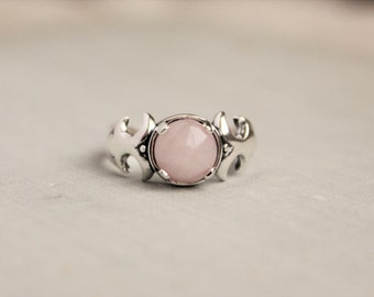 Rose Quartz Sterling Silver Ring
