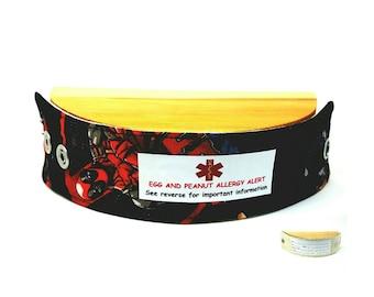 Kids Medical Alert Bracelet Safety ID Fabric Wristband Allergy Alert Bracelet Deadpool