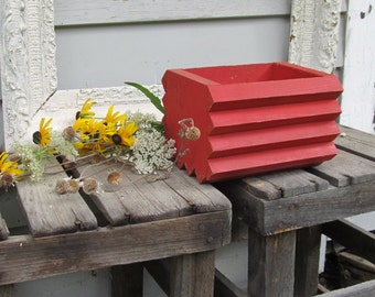 Vintage wooden box red
