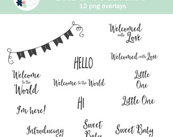 Baby Overlays - Photographer Template - Photo Scrapbook Png INSTANT DOWNLOAD