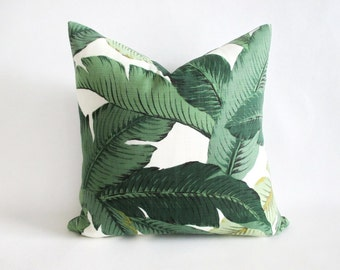 Pillow Cover Tropical Swaying Palms Tommy Bahama Banana Leaf Indoor Outdoor