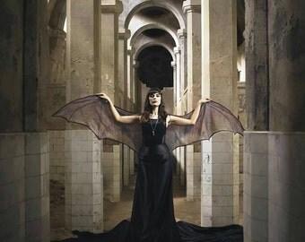 Bat wings dragon demon cape Halloween costume adult Fairy cape belly dance cloak MEDIUM SIZE