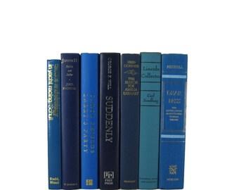 Blue  Old Books, Decorative Books, Decorative Book Set, Photo Props,  Wedding Book Decor, Book Lover Set, Vintage Books, Decades of Vintage