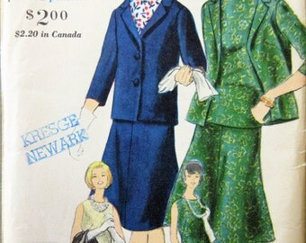 Vintage Vogue 4279 Sewing Pattern, 1960s Suit Pattern, Jacket, Flared Skirt Pattern, 1960s Sewing Pattern, Bust 36, Sixties Blouse Pattern