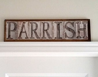 Personalized Recycled Metal Name Custom Wall Art