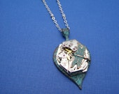 Upcycled Steampunk Mykonos Watch Movement Dragonfly Pendant Necklace by Upcycled Elements