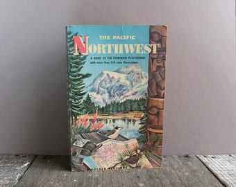 Vintage 1959 Pacific Northwest Pocket Guide Book / Golden Nature Guide Book