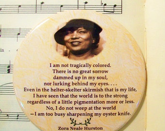 African American - Zora Neale Hurston - American Novelist, Black History Magnet Large 3.50 Inches, Party Favor Magnets