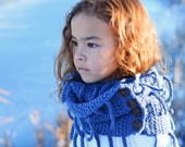 CROCHET PATTERN - Winter Wrap - a crochet scarf pattern, infinity scarf pattern with buttons  (Child, Adult sizes) - Instant PDF Download