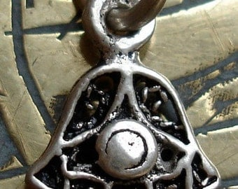Silver Moroccan Hand  with eye  very small pendant