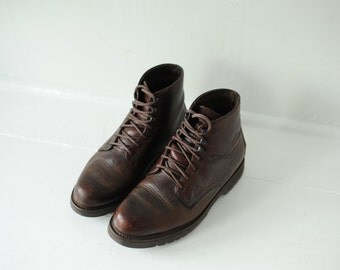 Vintage G.H. Bass Brown Leather Ankle Boots, Mens 7 1/2 / ITEM215