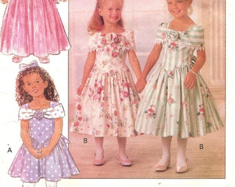 Toddler Girls Dressy Dress Sz 1 2 3 Pattern 1992