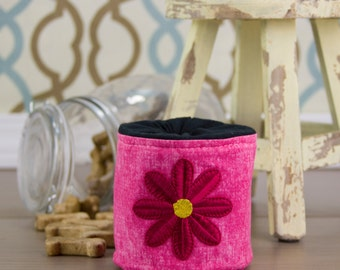 Pink Flower Treat Pouch