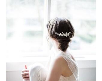 Bridal Hair Comb, Pearl Hair Piece - Chloe
