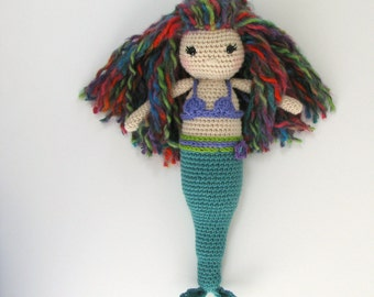 Kids Mermaid Doll, Crochet Mermaid Doll, Amigurumi Mermaid Toy, Handmade Stuff Mermaid Toy, Girl Gift Doll Mermaid Toy, Mermaid Toy Maris