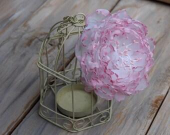 Wedding Flower Headpiece, Pink Hair Clip, Pink Bridal Hair Accessory, Pink Hair Piece, Fairy Bridal Flower, Wedding Flower Clip