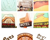 Cars @ Radiator Springs - Set of 7 5x5 Photography prints disney pixar cars movie nursery kids boys room playroom home decor wall art mater