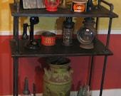 Rustic, Industrial Display Shelves