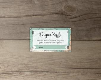 Diaper Raffle Tickets • Instant Download • travel / globe / plane • printable